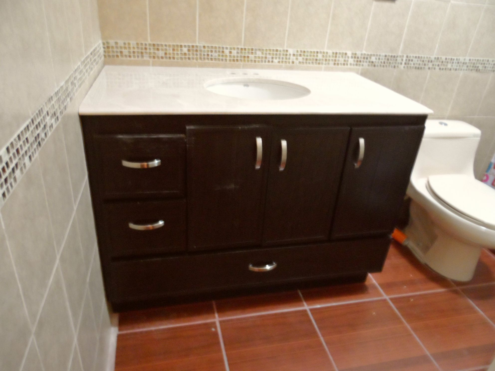 RIGID PLASTIC BATHROOM CABINETS